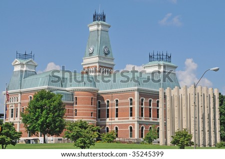 Bartholomew County Courthouse, columbus, Indiana - stock photo
