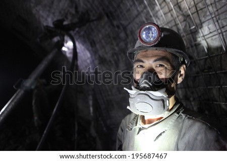 BARTIN-APRIL 5 : Unidentified Chinese mine workers began working in Turkey on April 5, 2014 in Bartin,Turkey.