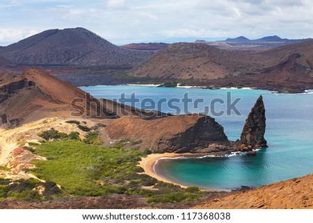 Bartolome island, Galapagos islands, Equador - stock photo