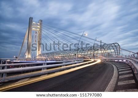 Basarab bridge, Bucharest, Romania - stock photo