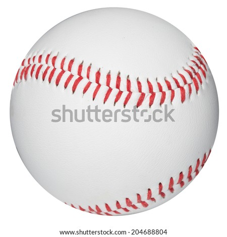 Baseball ball. Clipping Path  - stock photo