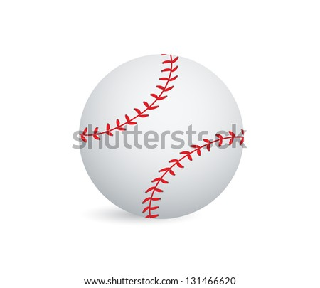 Baseball ball illustration design over a white background