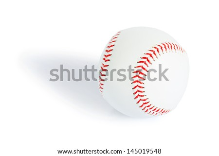baseball ball isolated - stock photo