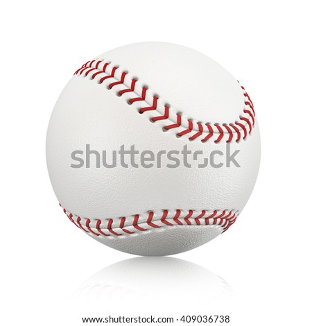 Baseball ball isolated on a white background. 3D illustration.