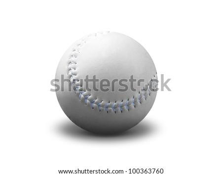Baseball ball isolated on white - stock photo