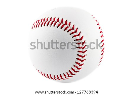 Baseball ball on a white background - stock photo