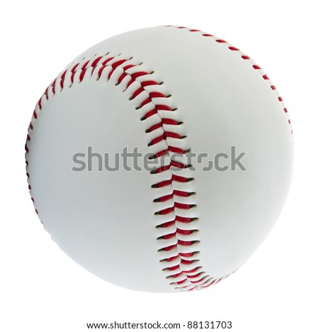 Baseball ball on the white background - stock photo