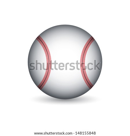 Baseball ball. Raster version