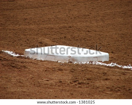 Baseball Base - stock photo