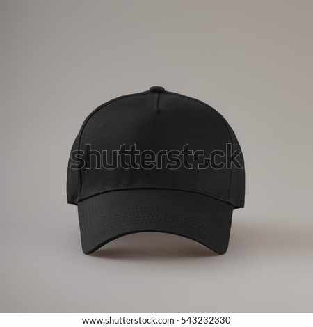baseball cap isolated on gray background