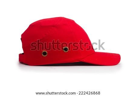 Baseball cap isolated on the white - stock photo