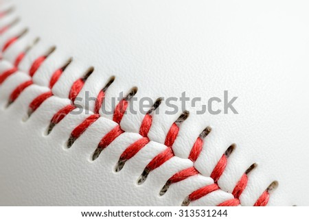 Baseball close up with copy space background