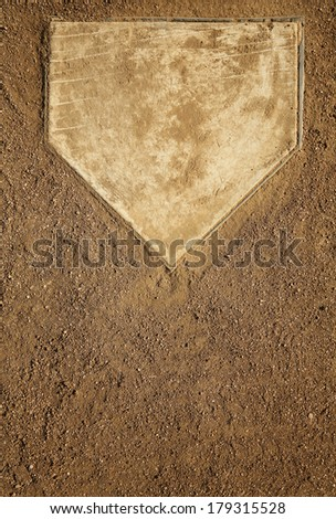 Baseball Field at Home Plate with Room for Copy - stock photo