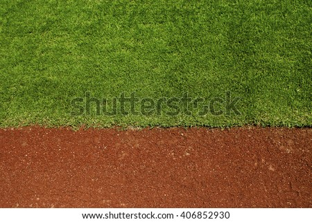 Baseball field with copy space. - stock photo