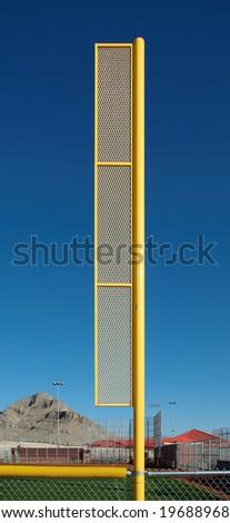 Baseball foul pole - stock photo