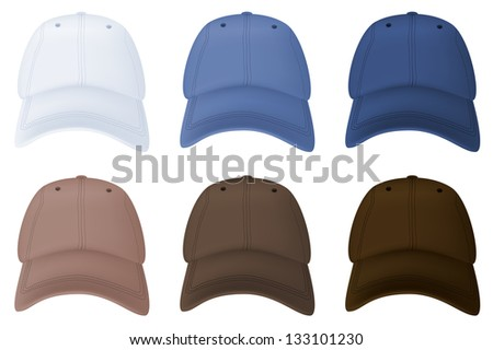 Baseball hats template.
