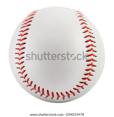 Baseball isolated on white with clipping path - stock photo