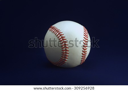 Baseball on a blue background