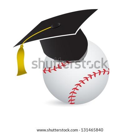 Baseball training school illustration design over white - stock photo