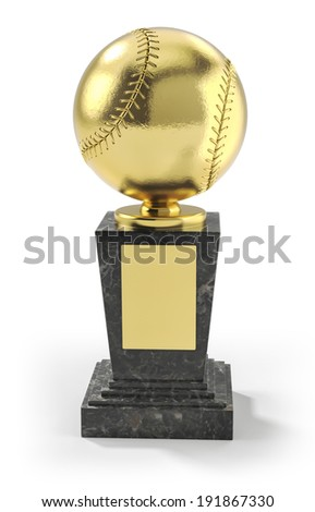 Baseball trophy - stock photo