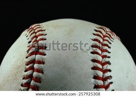 Baseball with black background - stock photo