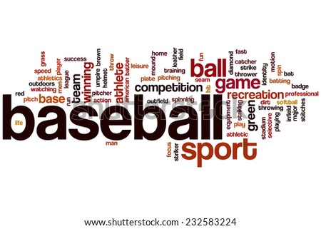Baseball word cloud concept - stock photo