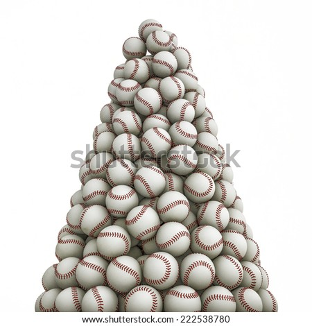 Baseballs peak - stock photo
