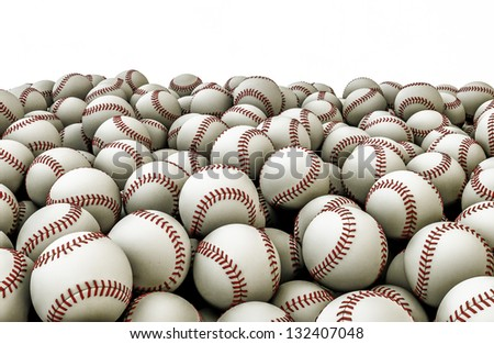 Baseballs pile - stock photo
