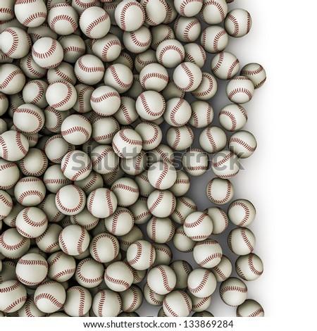 Baseballs spill - stock photo