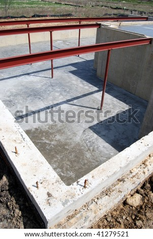 basement - new construction - stock photo