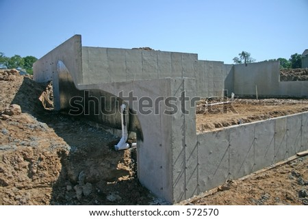 Basement Walls and Foundation to a New Home