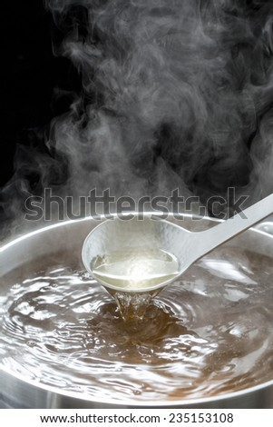 Basic soup of delicious dishes - stock photo