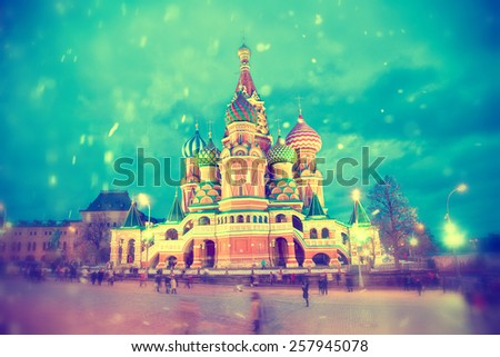 Basil's Cathedral in Moscow, Russia - stock photo