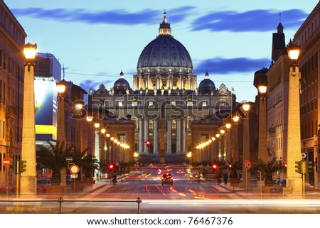 basilica church saint peter san pietro - stock photo