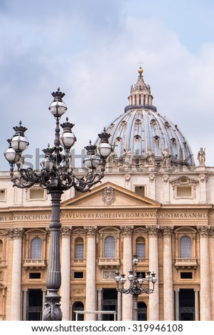 Basilica di San Pietro during spring in Vatican
