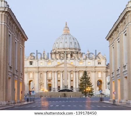 Basilica di San Pietro, Vatican, Rome, Italy. - stock photo