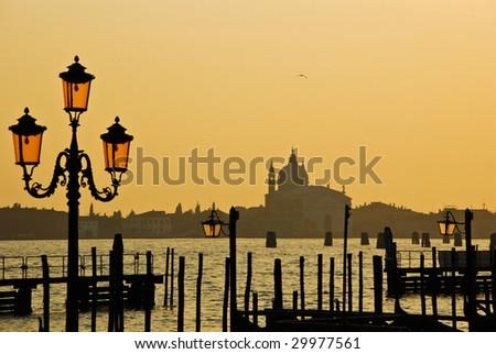 Basilica di Santa Maria della Salute, Venice - stock photo