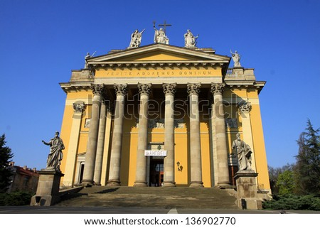 Basilica from Eger, Hungary - stock photo