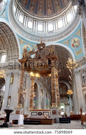 Basilica interior - stock photo