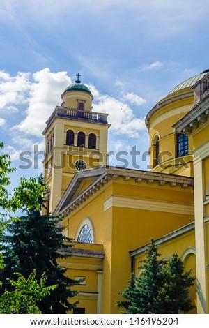 Basilica of Eger, Hungary - stock photo