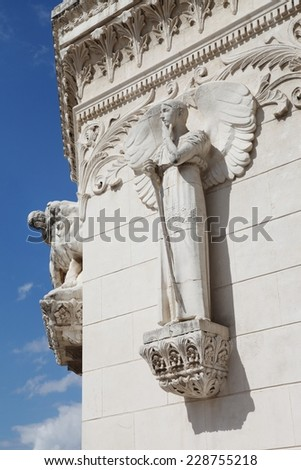 Basilica of Fourviere in Lyon, France - stock photo