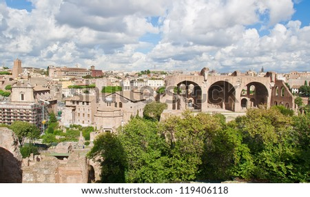 Basilica of Maxentius and Constantine is an ancient building in the Roman Forum, Rome, Italy. It was the largest building in the Forum.