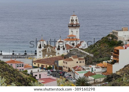 Basilica of Our Lady Candelaria,Tenerife - stock photo