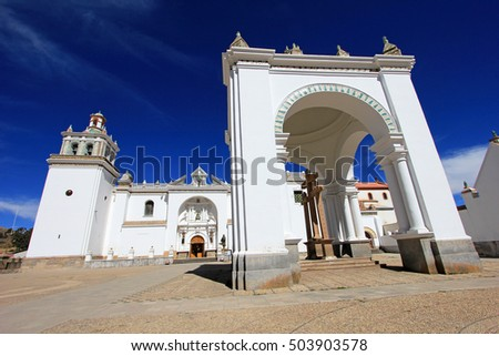 Basilica of Our Lady of Copacabana, the real one in Bolivia