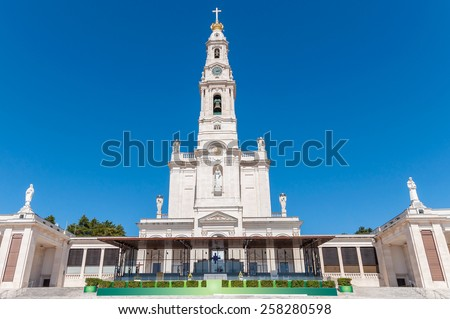 Basilica of Our Lady of the Rosary, Fatima, Portugal - stock photo