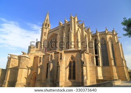 Basilica of Saint Nazaire, Carcassonne, Languedoc-Roussillon, France - stock photo
