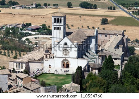 Basilica of San Francesco d'Assisi (St. Francis) in Assisi, Italy