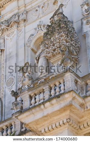 Basilica of St. Giovanni Battista. Lecce. Puglia. Italy. - stock photo