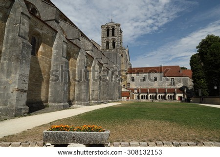Basilica of St. Mary Magdalene in Vezelay Abbey, UNESCO World Heritage site, Burgundy, France