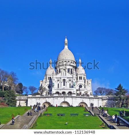 Basilica of the Sacre Coeur - stock photo